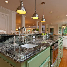 Transitional Kitchen by Flemington Granite & Architectural Supply