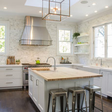 Transitional Kitchen by Evars + Anderson Interior Design