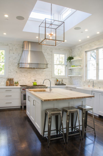 Transitional Kitchen by Evars + Anderson Interior Design