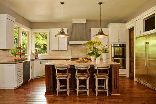 Transitional Kitchen by Garrison Hullinger Interior Design Inc.
