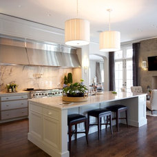 Transitional Kitchen by Hinsdale Lighting