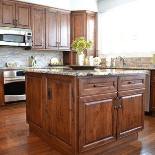 Transitional Kitchen in Knotty Alder
