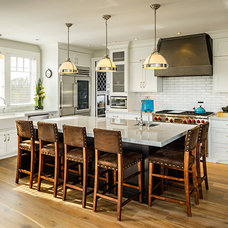 Transitional Kitchen by Joshua Lawrence Studios INC