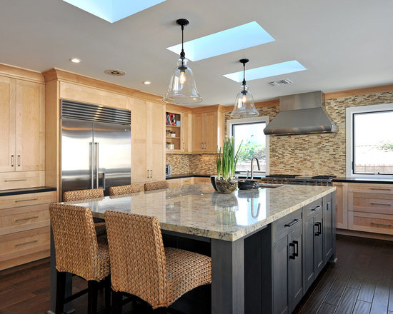 natural maple cabinets | houzz