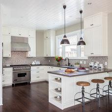 Transitional Kitchen by Hazel.Wood Design Group
