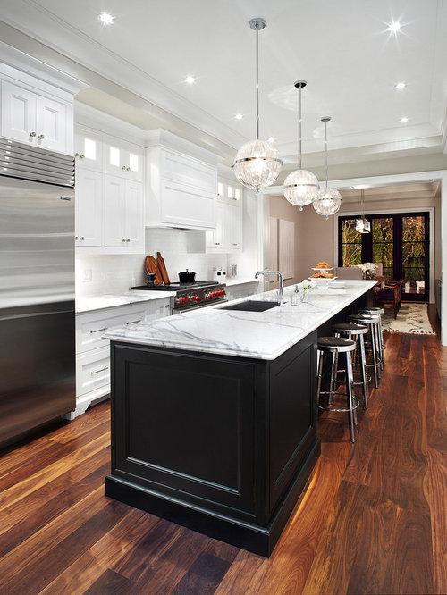 Transitional Galley Eat In Kitchen Idea In Dallas With An Undermount Sink,  Recessed  Part 62