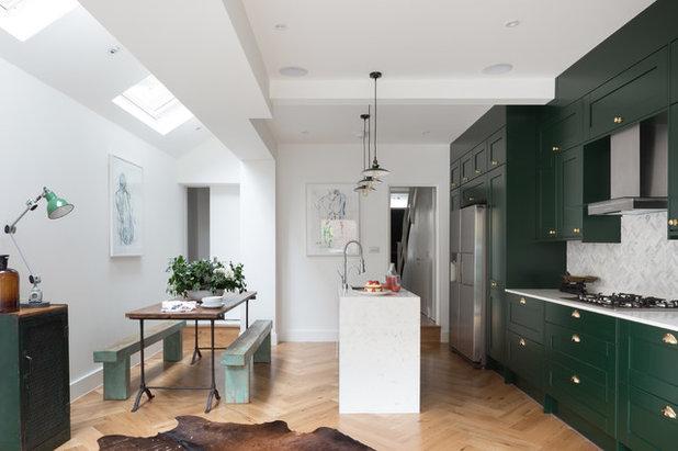 Transitional Kitchen by Patrick + Rosie
