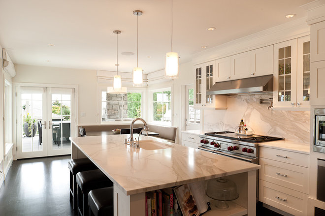 Transitional Kitchen by Paul Moon Design