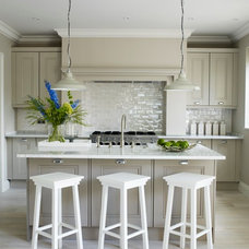 Transitional Kitchen by Peach Studio