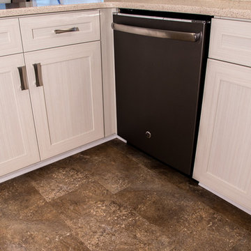 Transitional Kitchen Refaced in White Chocolate Laminate in Owings Mills,  MD