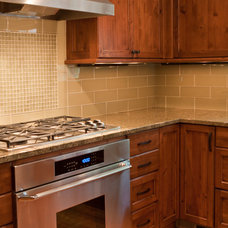 Transitional Kitchen by White Crane Construction