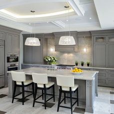 Transitional Kitchen by Vertex Project Management
