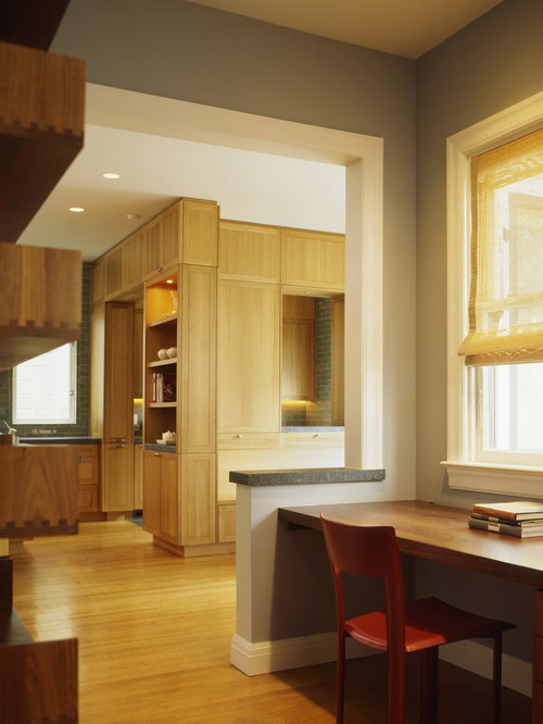 Transitional Kitchen Ideas   Example Of A Transitional Kitchen Design In  San Francisco With Shaker Cabinets