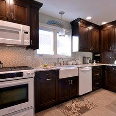 Transitional Kitchen by Solara Designs, Inc