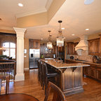 Open Floor Plan Traditional Kitchen Kansas City By
