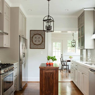 Transitional Kitchen Designs Example Of A Galley Design In Atlanta With An Undermount