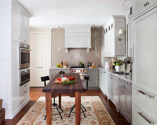 Inspiration For A Transitional L Shaped Enclosed Kitchen Remodel In Atlanta  With An Undermount Sink