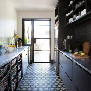 Transitional Kitchen  with Winckelmans Tile Floor