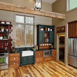 Transitional Rustic Home Design Photos Decor Ideas In Indianapolis