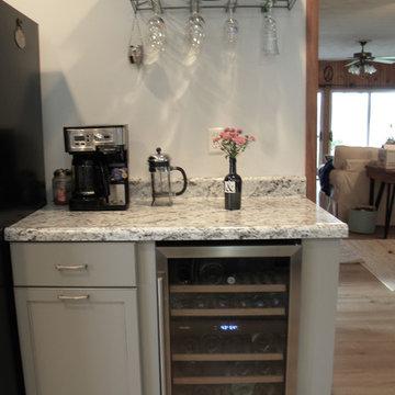 Transitional Lake House kitchen