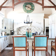 Transitional Kitchen by Traci Connell Interiors