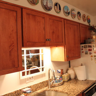 Transitional Maple Kitchen with Granite Countertops
