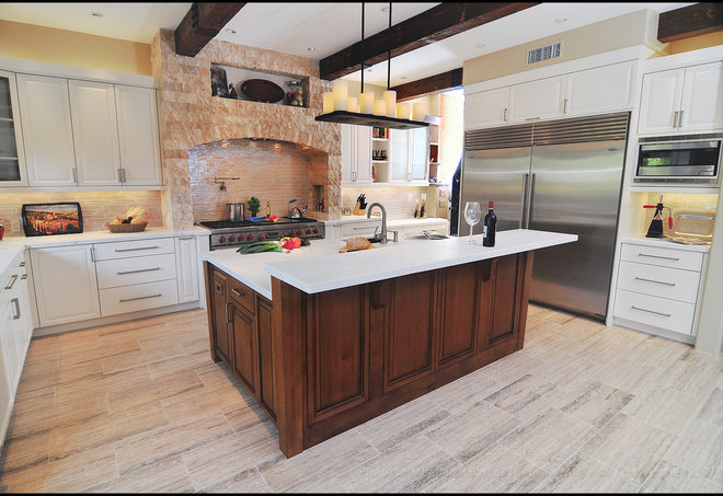 Rustic Kitchen by Fran Kerzner- DESIGN SYNTHESIS