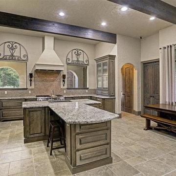 Transitional Mediterranean Style Custom Home on Acreage in Richmond, Texas