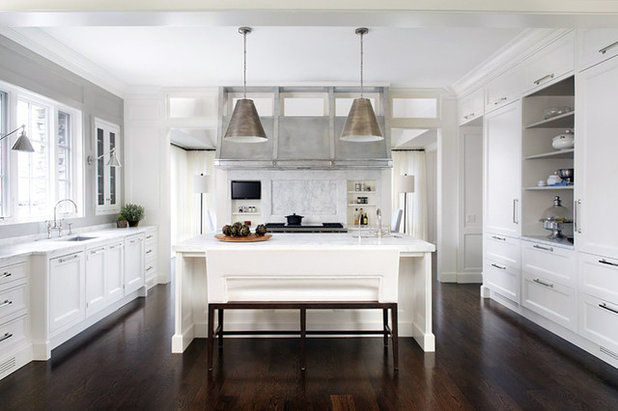 Transitional Kitchen by Tiburon Homes LLC