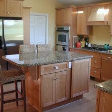 Transitional Kitchen by Stewart Design