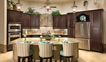 Transitional / Tropical Kitchen Model Home