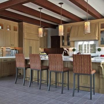 Transitional Twist Kitchen