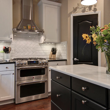 Transitional Two Toned Kitchen