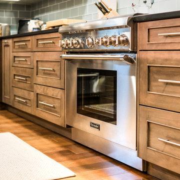 Transitional Warm Brown Kitchen in Red Birch