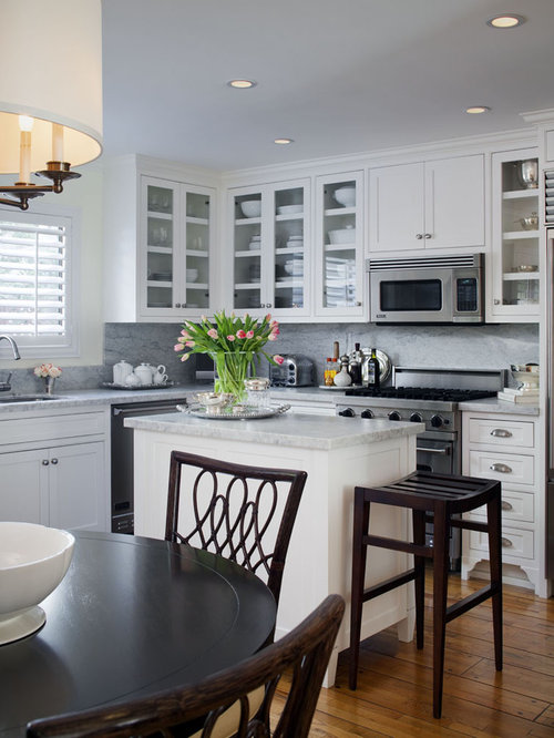 Small Traditional Eat In Kitchen Design Ideas Remodel Pictures Houzz