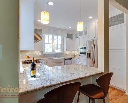 Transitional White Kitchen Remodel Gaithersburg Md
