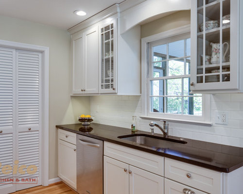 Transitional White Kitchen Remodel In Rockville Md