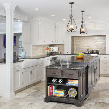 Transitional white kitchen