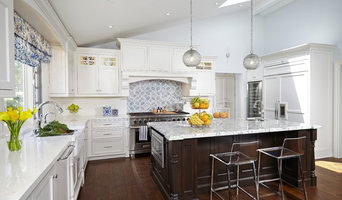 Transitional White Kitchen with Moroccan accents