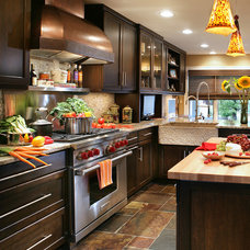 Transitional Kitchen by Peter Salerno Inc