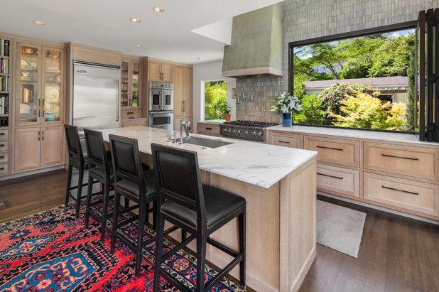 Transitional Kitchen by Syltebo Wight Homes & Jon Syltebo Painting Company