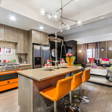 Trendy Townhouse - Kitchen with Neon Accents