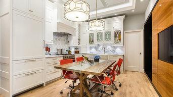 Trendy White Kitchen