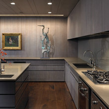 Open Kitchen Floor Plan Ovens Under Counter