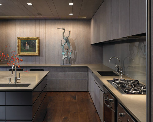 Gray Stained Cabinets | Houzz