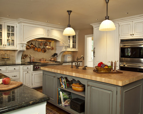 rustic butcher block countertop houzz