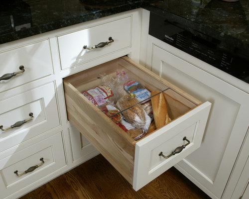 Bread drawer houzz for Kitchen outlays