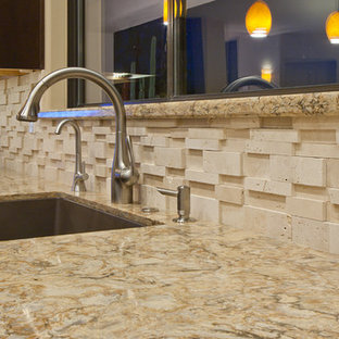 Buckingham Cambria Quartz Scon1978 Large Trendy L Shaped Travertine Floor Eat In Kitchen Photo Phoenix With An