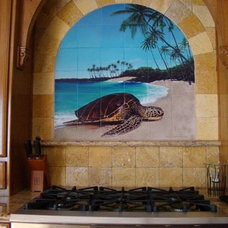Tropical Kitchen by Pacifica Tile Art Studio