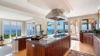 Tropical Koa Kitchen & Entertainment Center